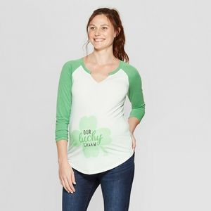 Isabel Maternity Lucky Charm T-shirt, XS - New!